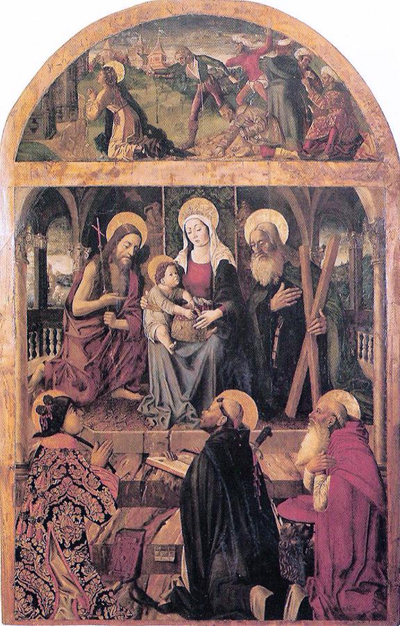 Pietro Befulco - Madonna col bambino e santi - Martirio di S Stefano - 1490