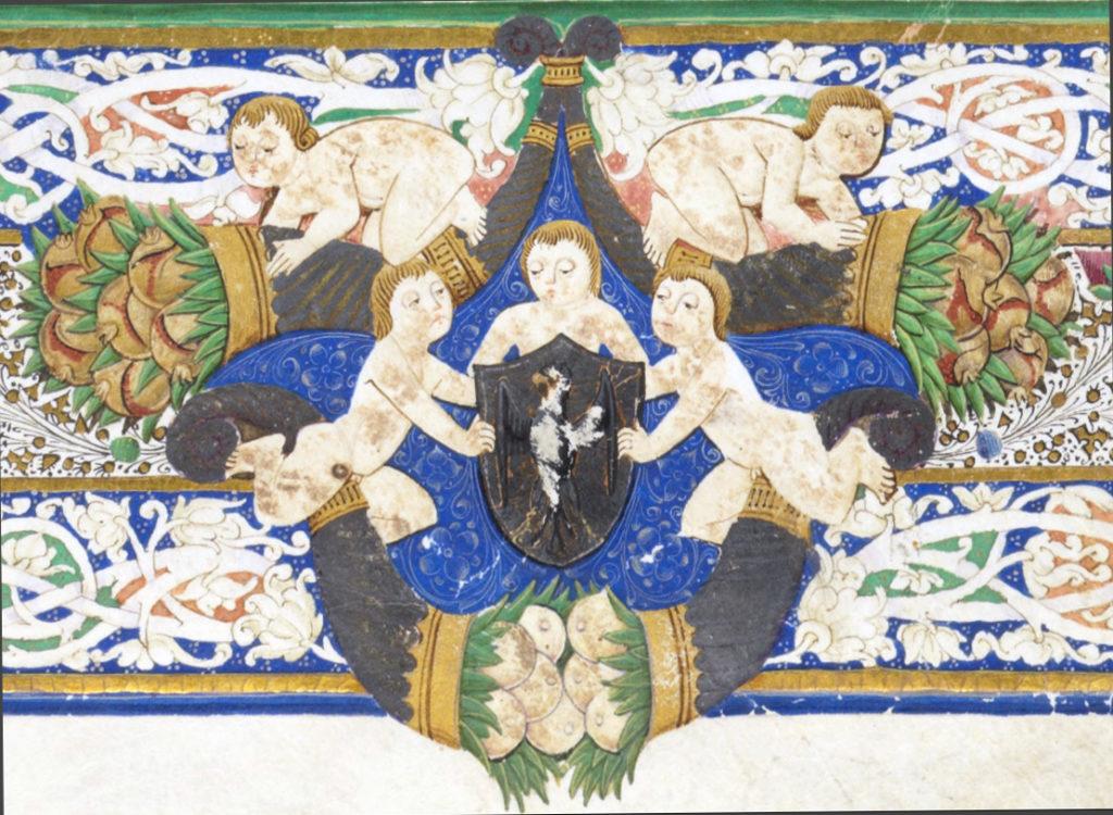 Stemma di Antonello Petrucci nel Manoscritto de Le Metamorfosi di Ovidio (Cod. Bodmer 124)