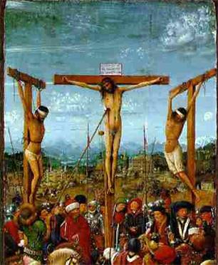 Crocifissione Van Eyk, dettaglio