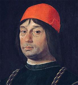 Lorenzo Costa - Ritratto Bentivoglio - Uffizi