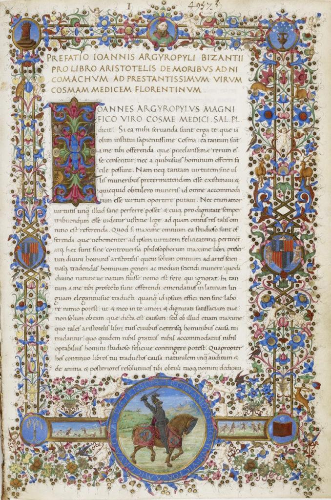Giovanni Argiropulo - Aristotele - De Moribus