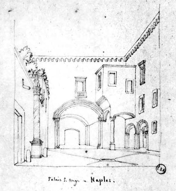Atrio Palazzo Carafa intorno al 1820