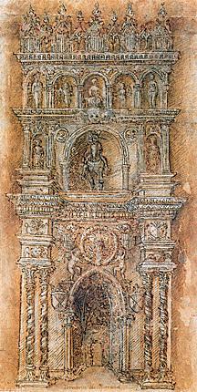 Pisanello - Progetto per l'Arco di Trionfo in Castel Nuovo