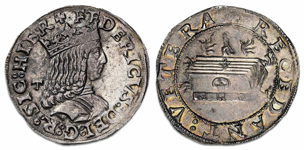 "Carlino ""Recedant Vetera"" - Federico III di Aragona, 1497"