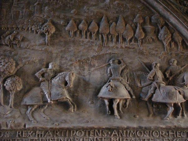 Ferrante respinge l'assalto di Marino Marzano alla Torricella - Portone di Castelnuovo