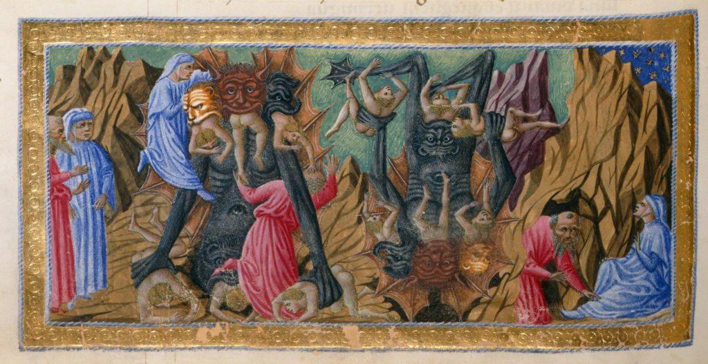 Divina Commedia di Alfonso d'Aragona Re di Napoli - f62v