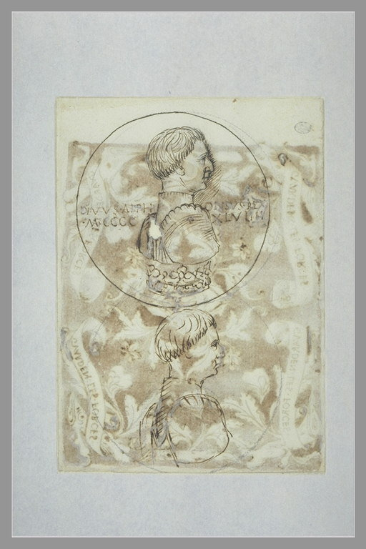 Due studi per una medaglia con Alfonso d'Aragona