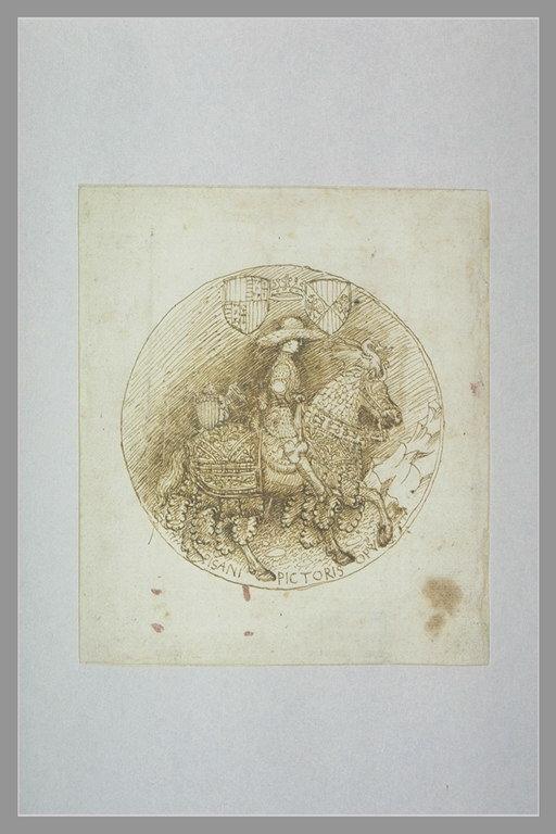 Medaglia con Alfonso d'Aragona a cavallo