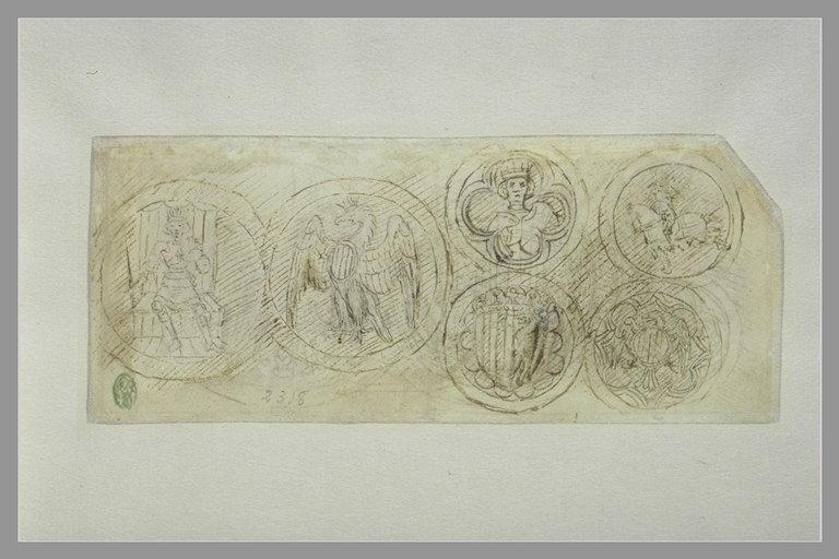 6 medaglioni con le armi di Alfonso d'Aragona
