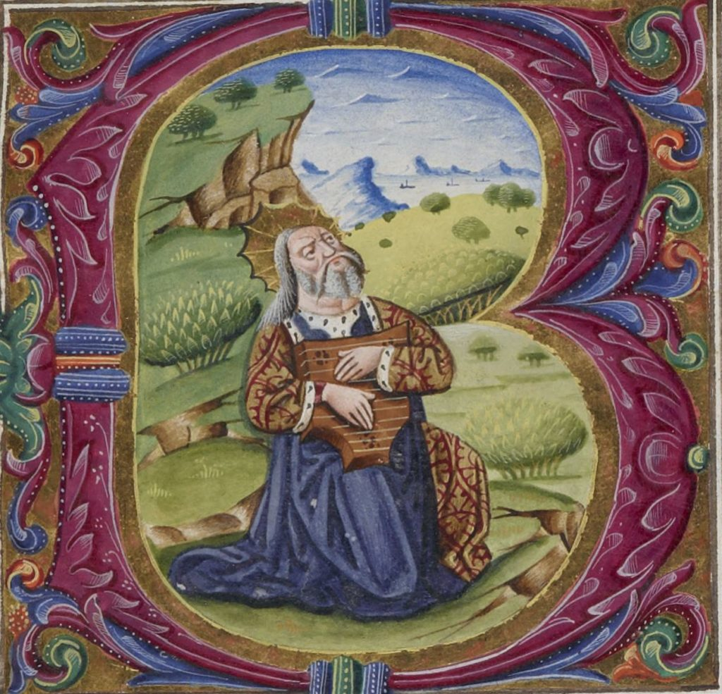 Salterio di Re Ferrante - Re Davide in preghiera