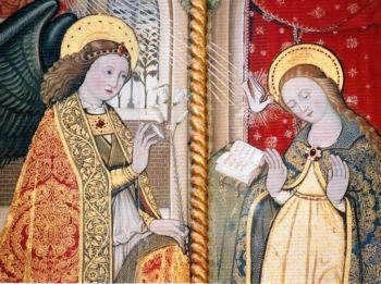 Angiolillo Arcuccio - Annunciazione di S.Agata dei Goti, dettaglio