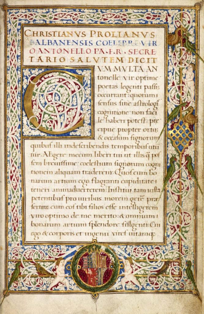 Napoli Aragonese | Compendio di Astrologia di Proliano, foglio 5